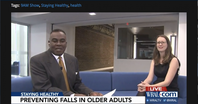 Dr. Meredith Gilliam interviewed on WRAL about falls prevention in older adults