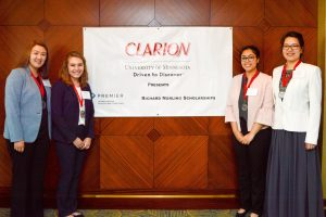 Division of Clinical Rehabilitation and Mental Health Counseling first-year student Uzma Khan and her team at the 2019 CLARION contest.