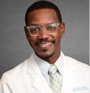Second-year Physician Assistant Studies student Andre Braima