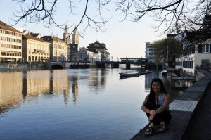 Division of Radiologic Science Global Student Ambassador, Mai-Linh, in Zurich.