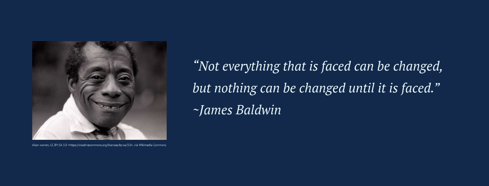 Quote – James Baldwin