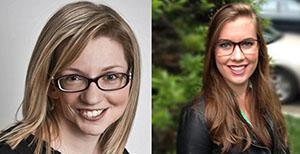 Cassandra Hayne (left) and Amy Howard (right)