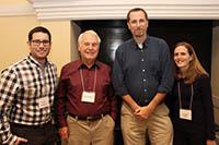 (r-l) Scott Rothbart, PhD; Joseph S. Pagano, MD; Gidi Shemer, PhD; and Angela Wahl, PhD