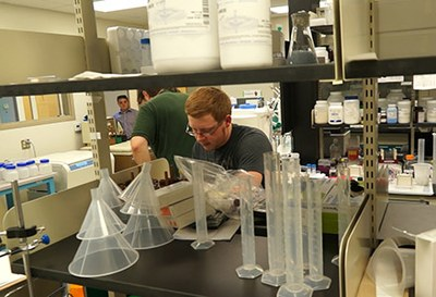 An employee works in EpiCypher's lab in Durham. EpiCypher develops and sells recombinant nucleosomes — an industry first — and other products for epigenetics and chromatin research.