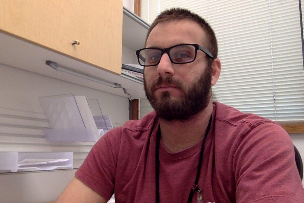 photo of UNC Joshua Strauss PhD cryo-EM Core director