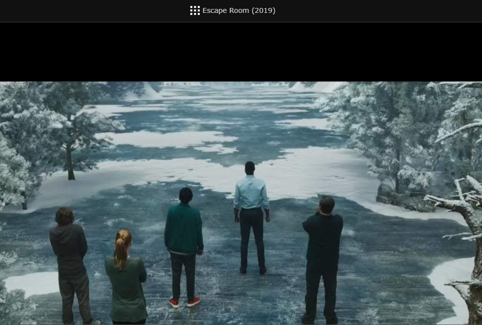 poster of escape room movie showing 4.4.2019 people walking on ice