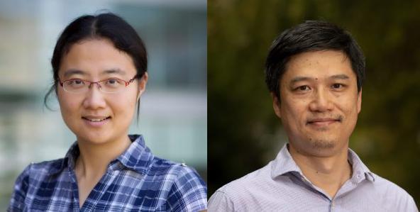 photo of two people Li Qian, PhD; Greg Wang, PhD