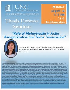 Hyunna Lee Defense on August 8 2019 Campbell lab