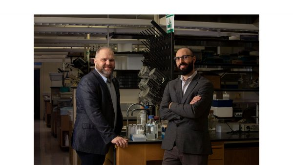 Jonathan Schisler and Todd Cohen study proteins
