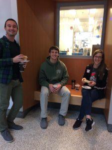 bagel breakfast students sitting