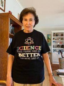 Judy won a t-shirt contest