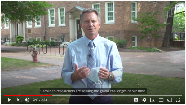 message from Chancellor Kevin M. Guskiewicz 7-21-2020