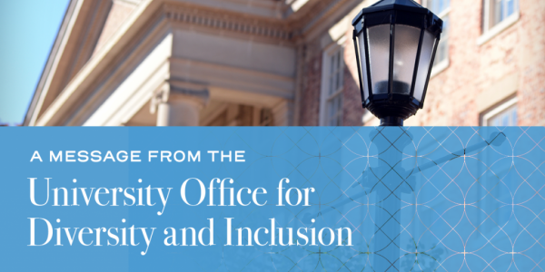 office of university diversity and inclusion message banner