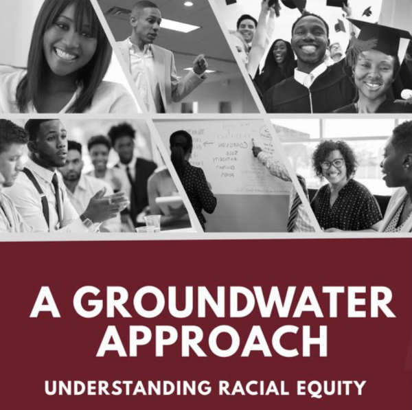 groundwater approach understanding racial equity 6 images include classroom with people of color