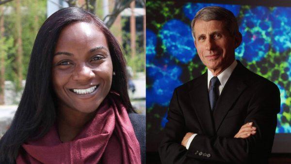 Kizzmekia Corbett PhD and Dr. Anthony Fauci