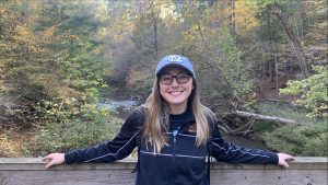 Aubrie Weyhmiller with fall scenes in background
