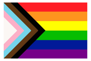 """""""Graphic designer Daniel Quasar has added a five-colored chevron to the LGBT Rainbow Flag to place a greater emphasis on inclusion and progression."""
