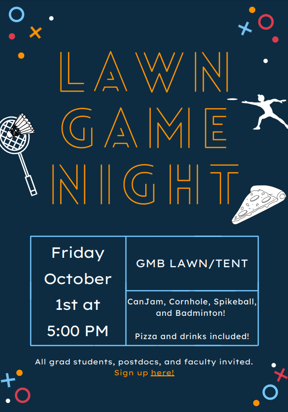 October 1 lawn game night details in post