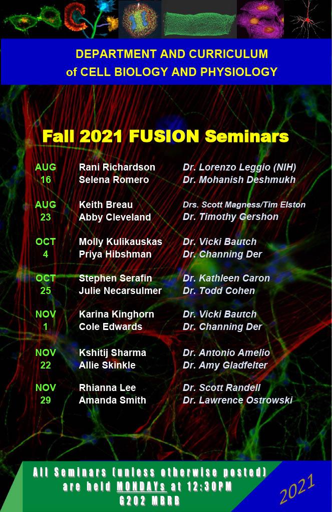 Fusion Seminar schedule