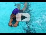 Isabella at age 12 swimming