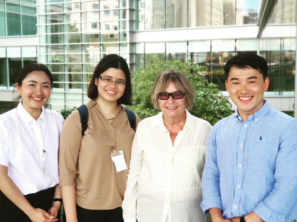 Chair Emerita, Dr. Judith Tintinalli with Physicians from Thailand and Mexico