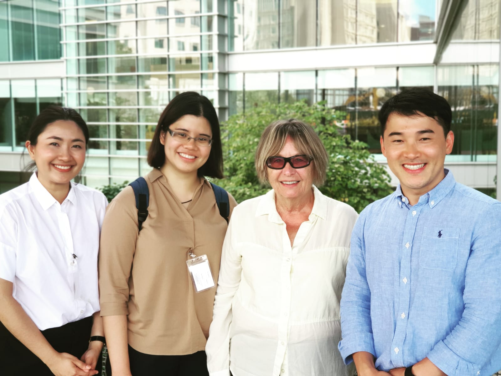 Judith Tintinalli with Physicians from Thailand and Mexico