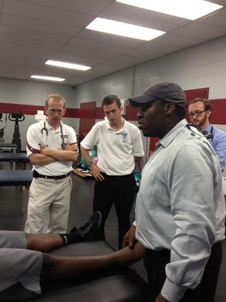 Stafford teaching at NCCU