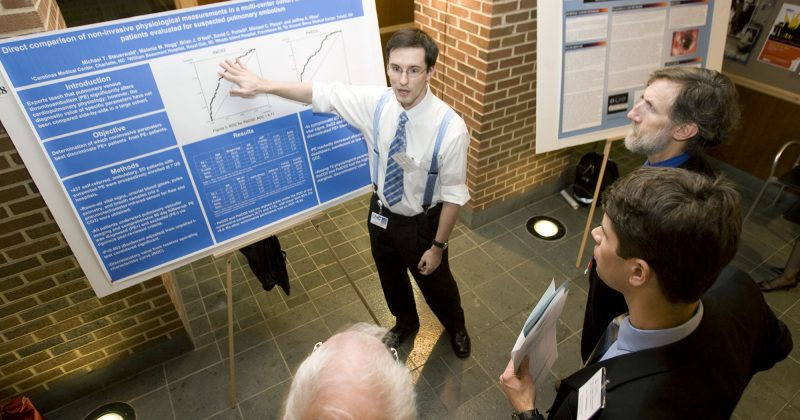 UNC Family Medicine fellow presenting research