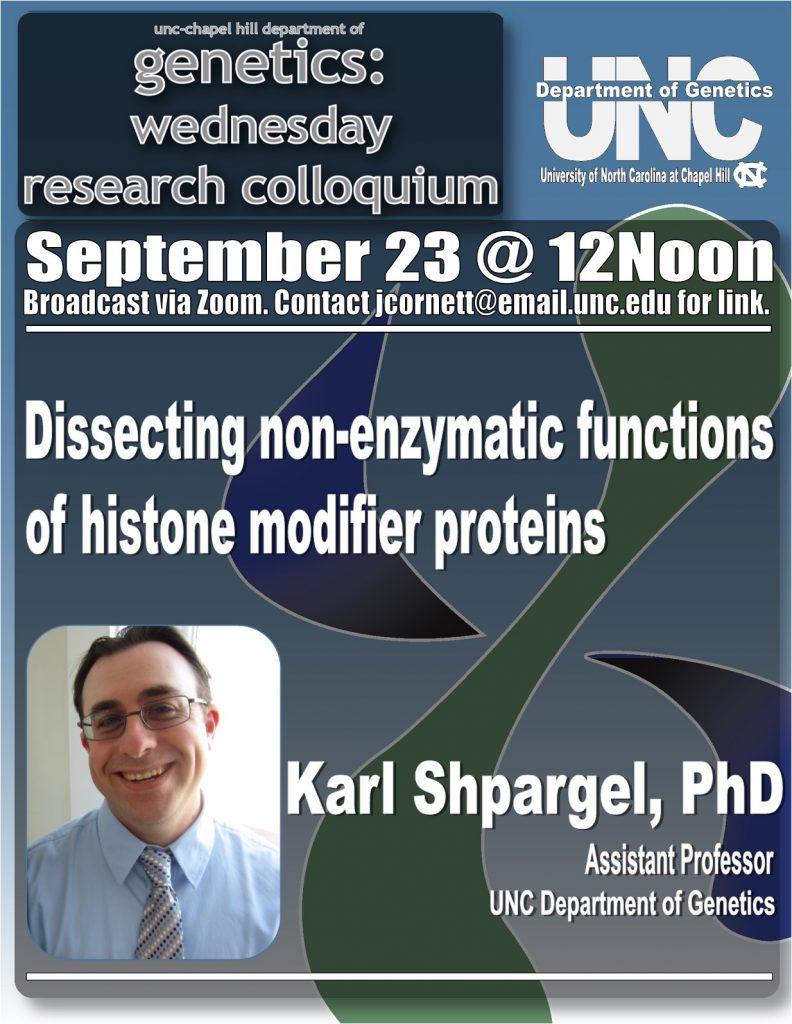 Genetics Colloquium_20 0923 Karl Shpargel