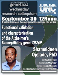 Genetics Colloquium_20 0930 Shamsideen Ojelade