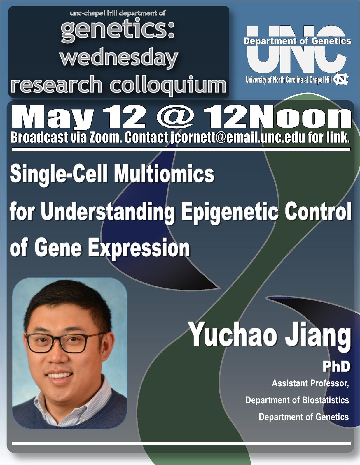 Genetics Colloquium_21 0512 Yuchao Jiang