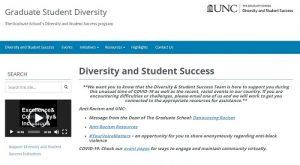 UNC Graduate School Diversity and Student Success