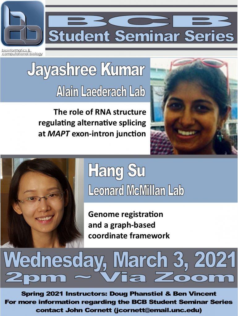 BCB Student Seminars_21 0303 Kumar and Su