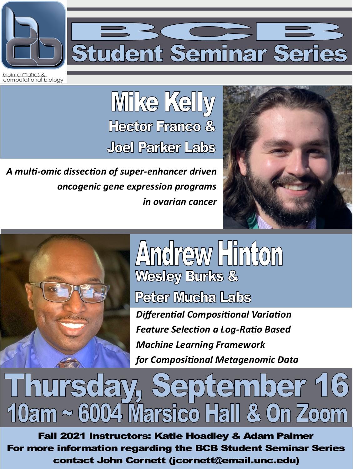BCB Student Seminars_21 0916 Kelly and Hinton