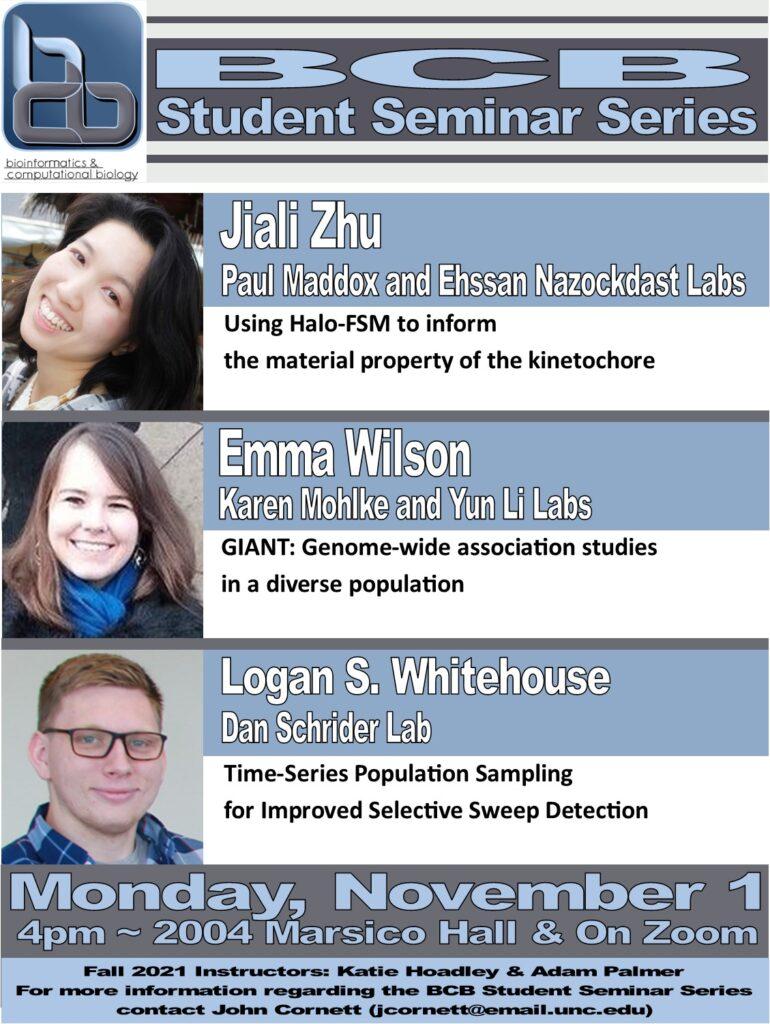 BCB Student Seminars_21 1101 Zhu Wilson and Whitehouse