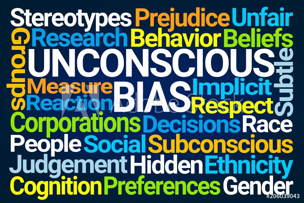 Unconcious Bias word cloud