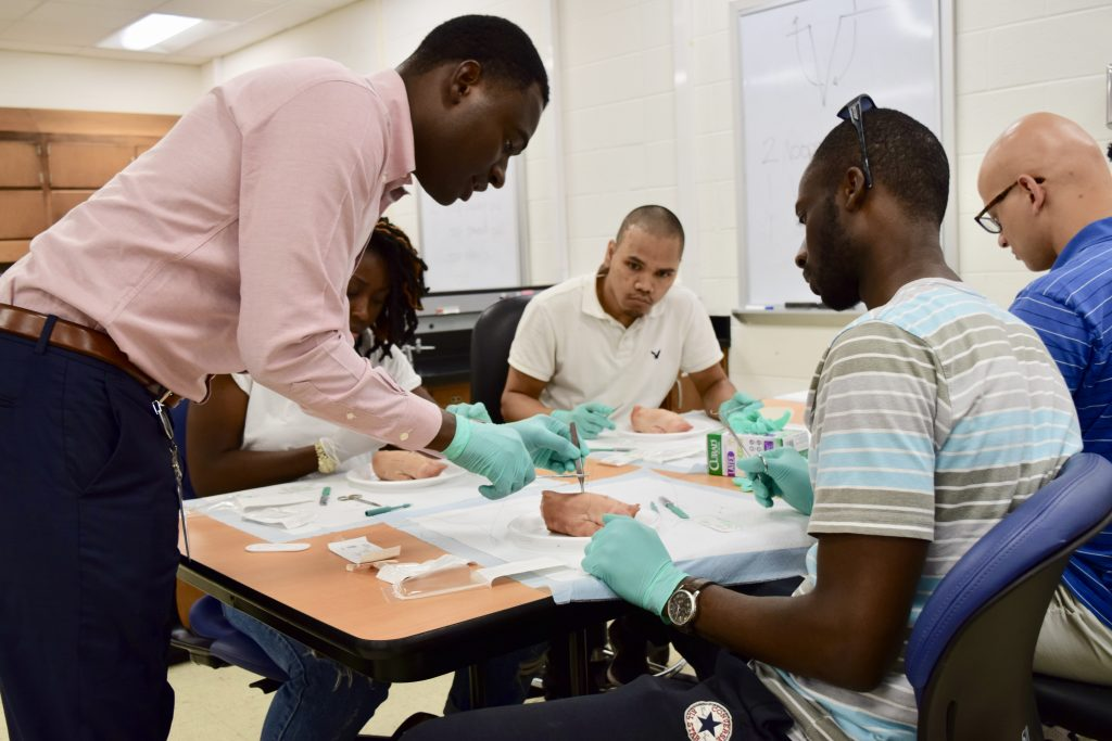 Med students in the classroom