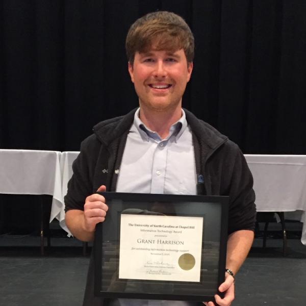 Grant Harrison IT Award winner