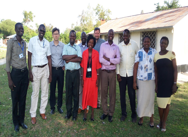 Dr. Juliano visits a filed site in Ahero, Kenyo