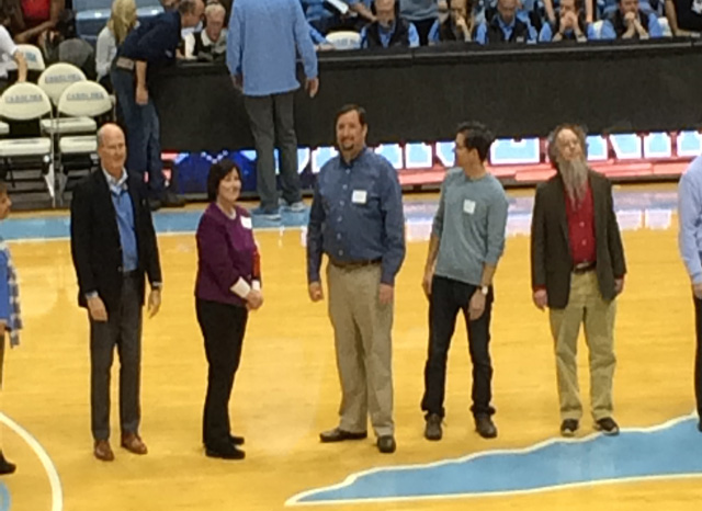 Dr. Juliano wins a UNC Teaching Award.