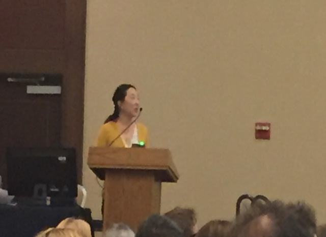 Dr. Lin speaks at the 2015 ASTMH Meeting.