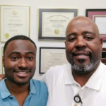 Deen Garba and Cedric Bright both graduated from UNC's MED program, in 2016 and 1986, respectively. Garba just finished his first year of medical school at UNC.