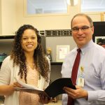Dr. Nick Shaheen with Ashley Arrington, clinical research coordinator