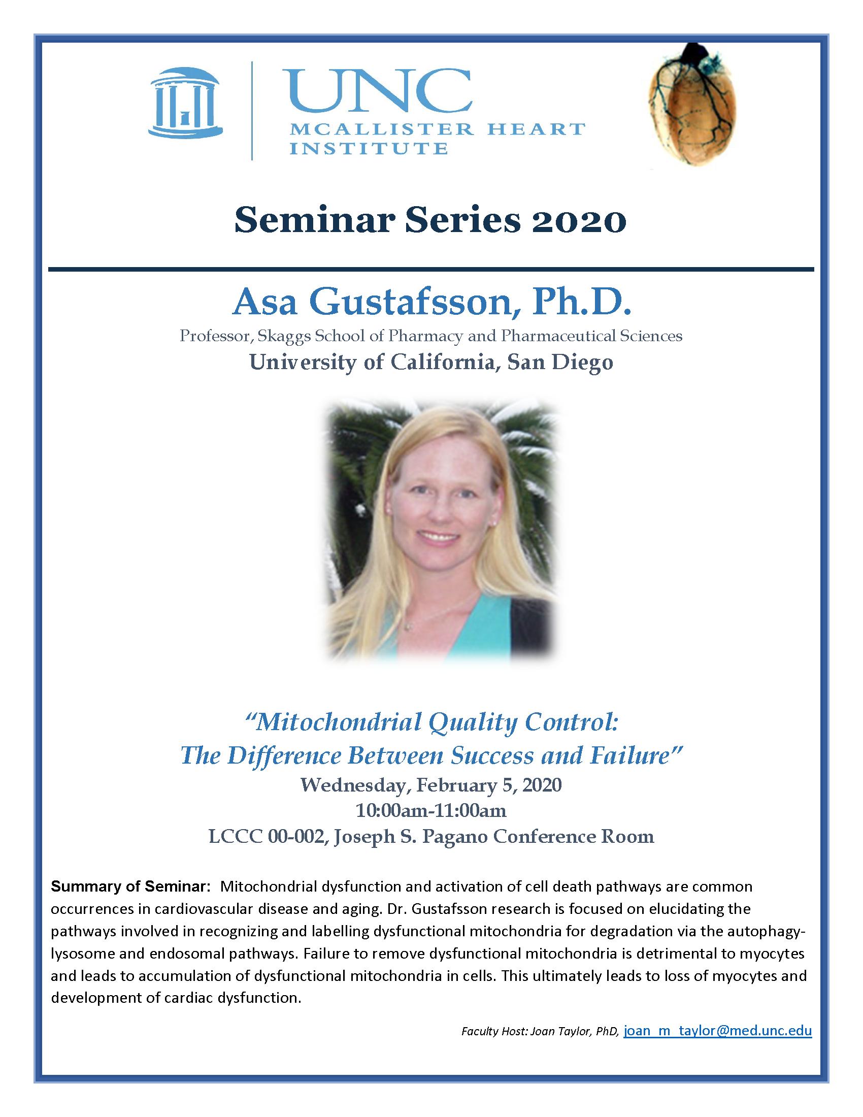 Asa Gustafsson, Ph.D.