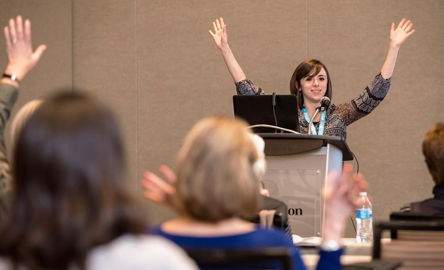 Jessica Shurer, MSW, LCSW, at the Caregiver Summit