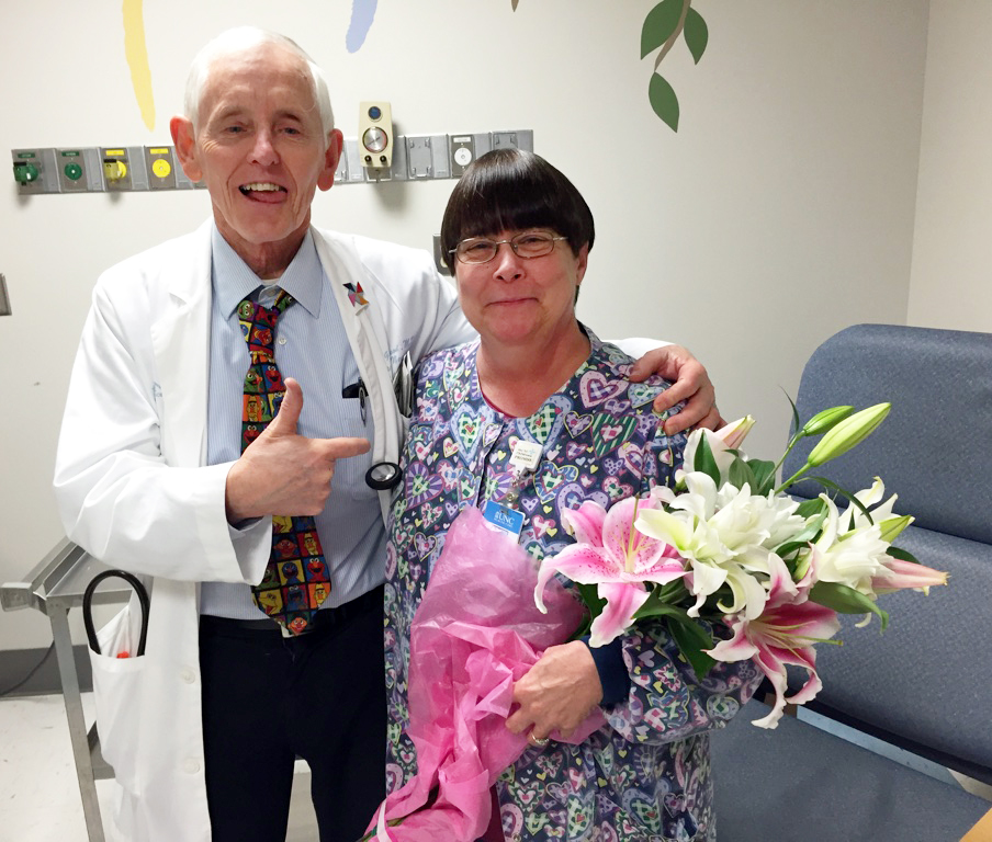 Dr. Greenwood with the incredible Nurse Betty!