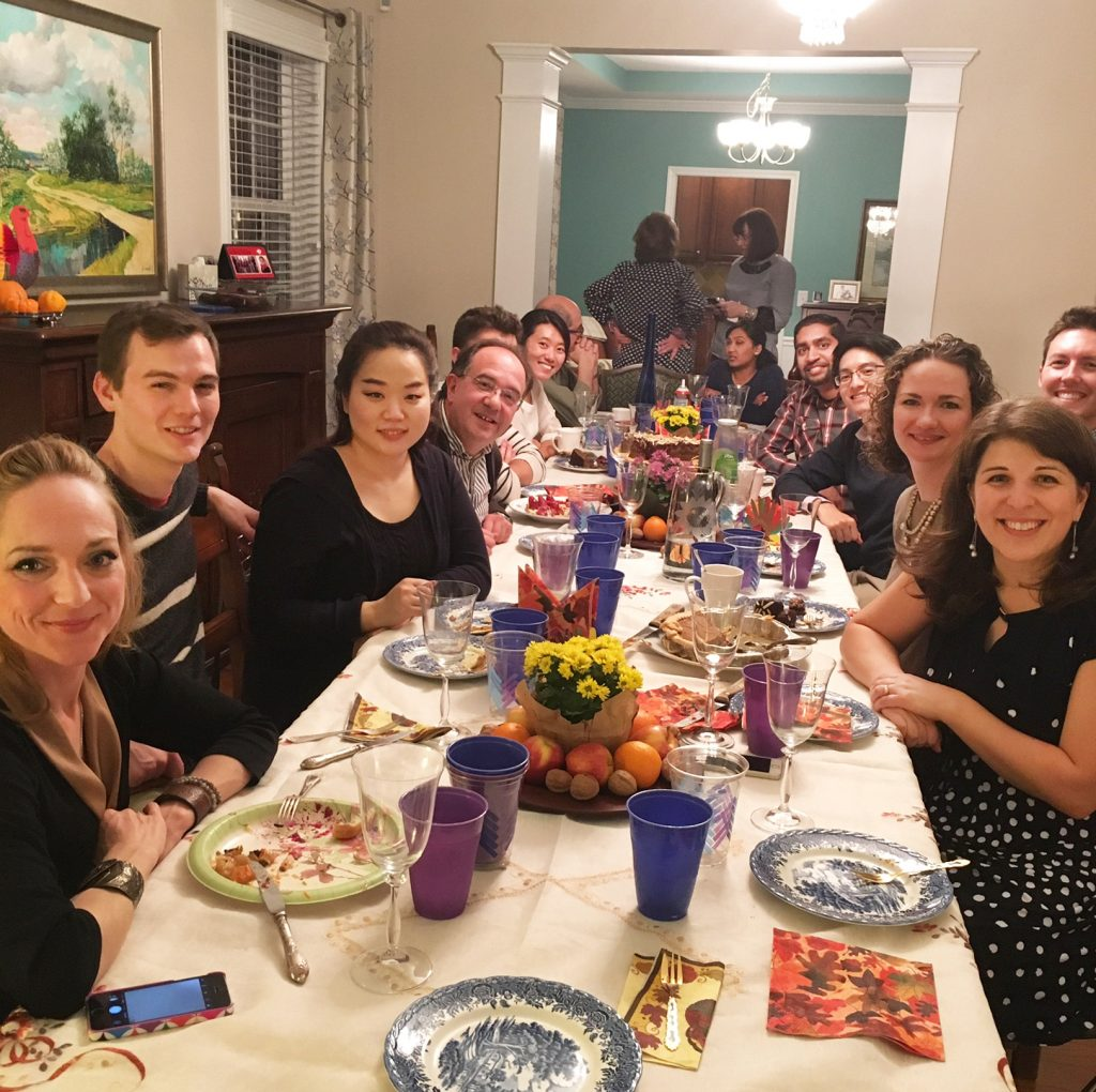 Thanksgiving dinner with the adult neurology residents at Dr. Browner's house