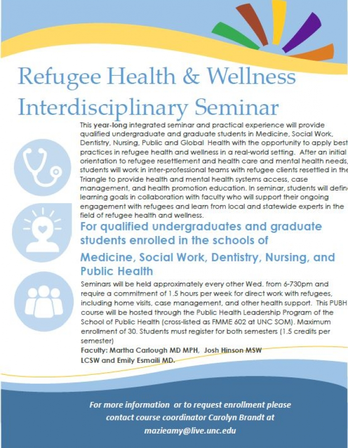 Refugee Health & Wellness Seminar 2018-2019