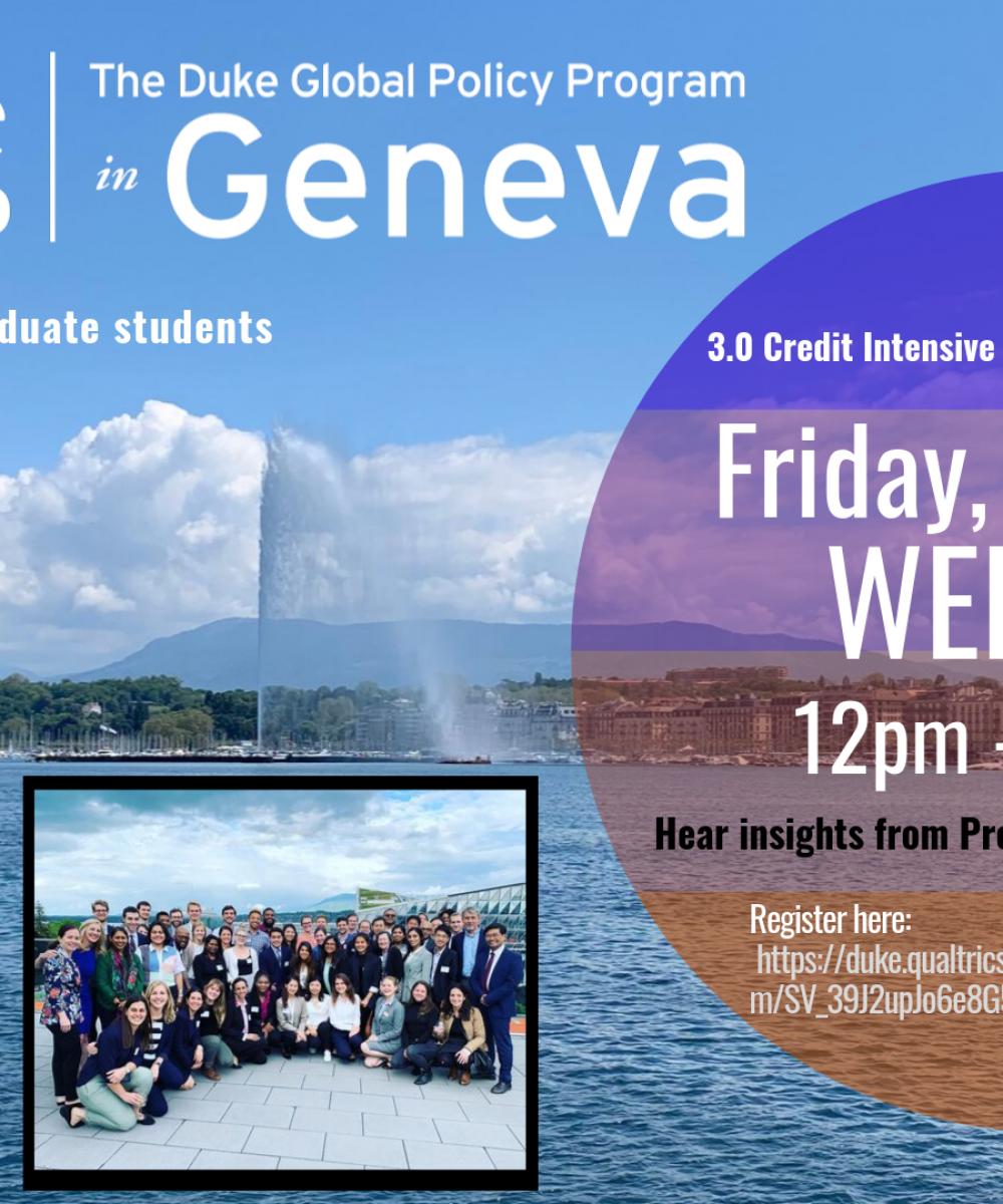 Webinar: Duke Global Program in Geneva