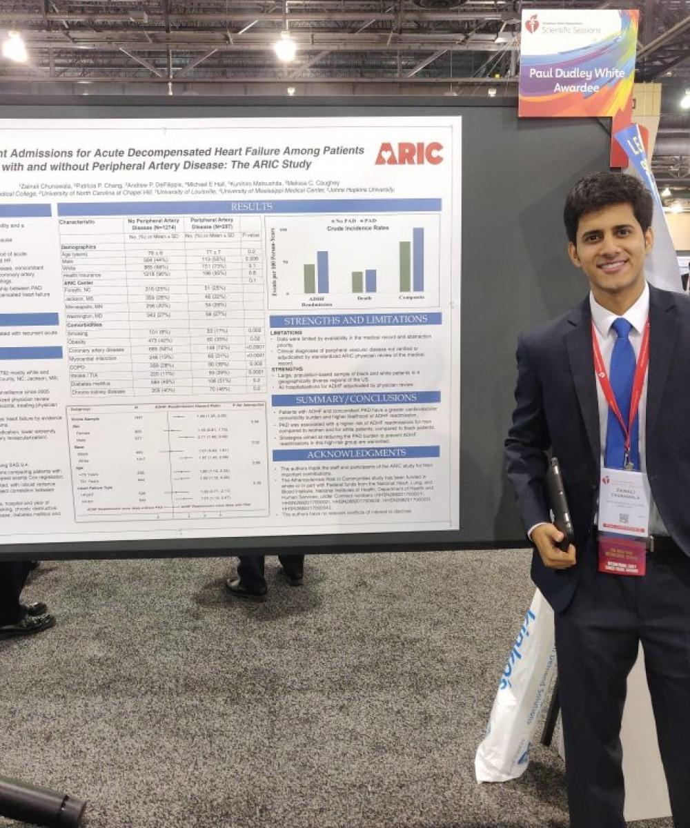 International Visiting Student, Zain Chunawala, receives Paul Dudley Int'l Award at American Heart Assocation Scientific Session